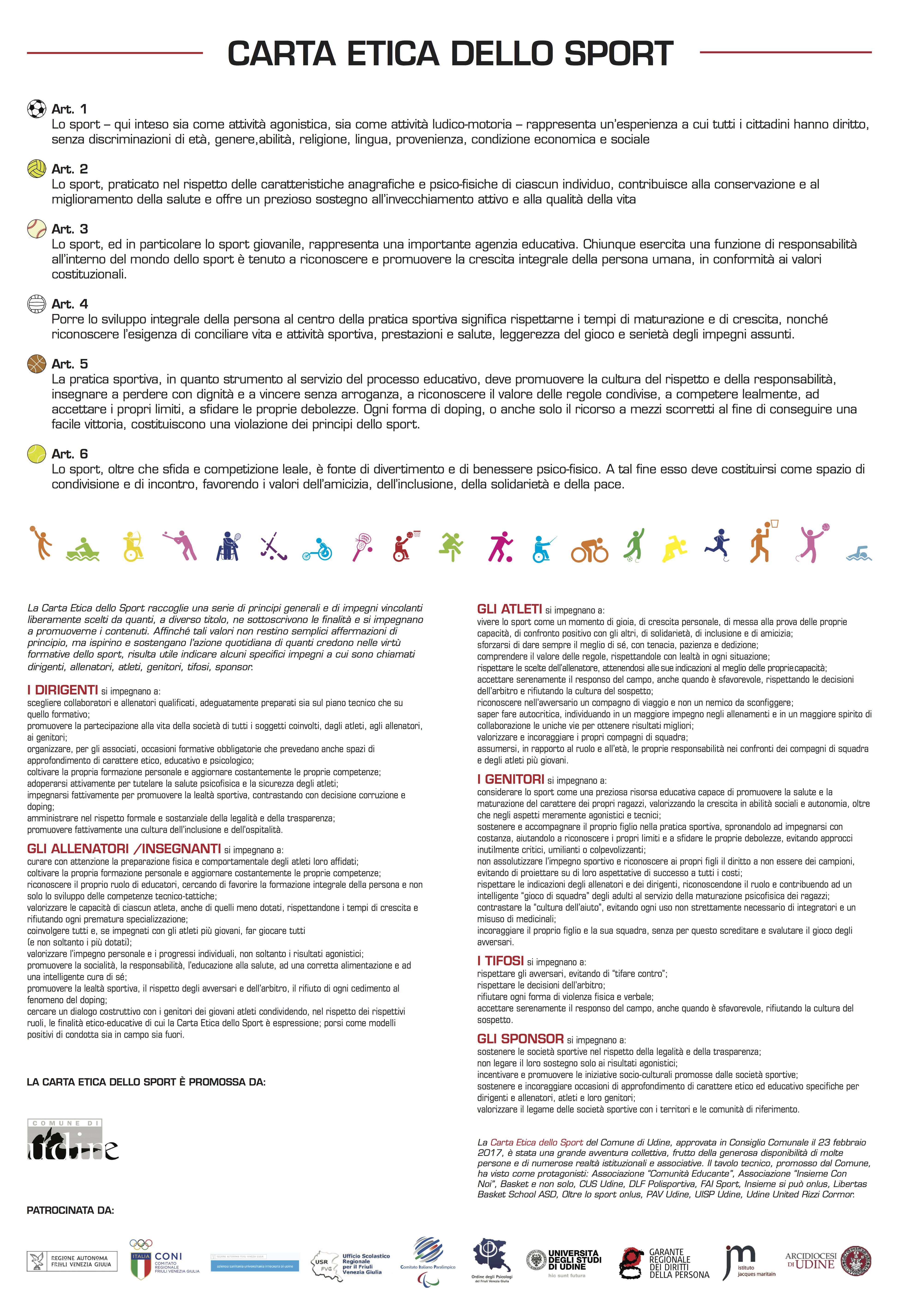 Carta Etica Dello Sport Centro Studi Jacques Maritain